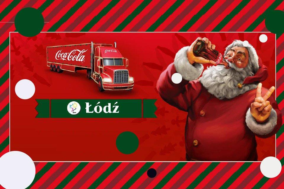 Świąteczna ciężarówka Coca-Cola w Łodzi